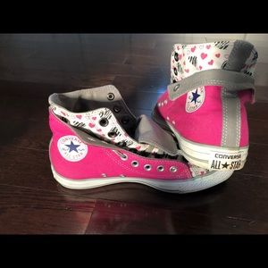Converse double-tongue custom fabric, size 7